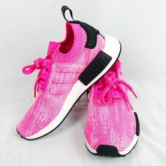 f2c669cb59564 NWT Adidas NMD R1 W Prime knit Solar Pink